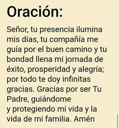 Holy Spirit Prayer, God Prayer, Prayer Quotes, Nighttime Prayer, Good Morning In Spanish, Spanish Prayers, Special Prayers, Bible Encouragement, Catholic Religion