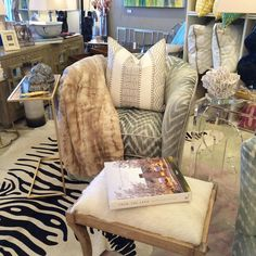 """""""New cozy @crlaine swivel chairs in the shop! #transitionalstyle #designoftheday #fabulousfurs #roanokeva #shopsmall"""""""