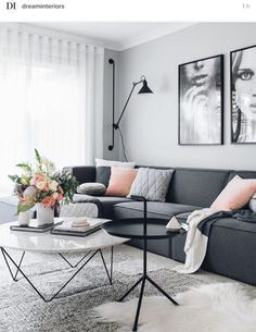 Amazing Modern Living Room Scandinavian Decoration for Your Home Living Room Decor Apartment, Apartment Living Room, Living Room Scandinavian, Home Decor, House Interior, Apartment Decor, Living Room Grey, Living Decor, Scandinavian Design Living Room
