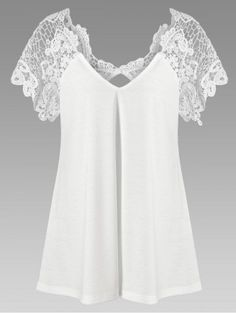 GET $50 NOW | Join RoseGal: Get YOUR $50 NOW!http://www.rosegal.com/plus-size-t-shirts/plus-size-lace-trim-cutwork-1131332.html?seid=vb6jgevhn08jjlh474ionbjht7rg1131332