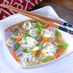 Wonton Soup - The Daring Gourmet Shrimp Wonton, Chinese Cooking Wine, Filled Pasta, Cabbage Soup Recipes, Frozen Shrimp, Pasta Soup, Wonton Wrappers, Asian Recipes, Gourmet