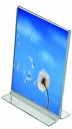 Tischaufsteller T-Aufsteller aus Acrylglas A6 A5 A4 Werbeständer Hoch- und Quer
