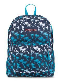 The new JanSport SuperBreak Backpack in Navy Moonshine Island Ombre.