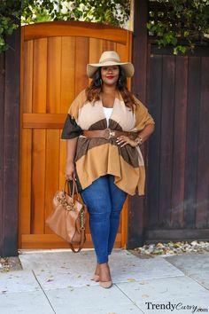 Plus Size Fashion for Women - Plus Size Fall Outfit Idea Look Plus Size, Curvy Plus Size, Plus Size Model, Plus Size Fall Outfit, Plus Size Fashion For Women, Plus Size Outfits, Curvy Girl Fashion, Look Fashion, Autumn Fashion