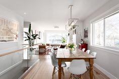Dining area by Madeleine Design Group in Vancouver, BC. *Re-pin to your inspiration board*