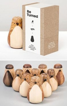 "Re-turned by Lars Beller Fjetland. The ""Re-turned""-concepts elevates leftover wood from being merely an ignored piece of trash to becoming a desired piece of feel-good woodcraft."