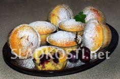 Tvarohové muffiny s třešněmi