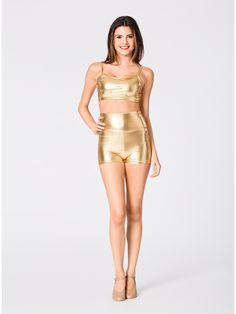 35 Awesome high waisted metallic shorts images