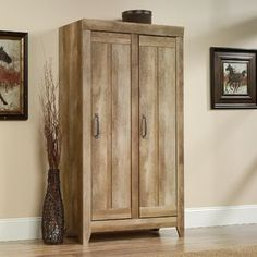 With this Sauder Adept Wide Storage Cabinet in Craftsman Oak, your space will be relieved of plenty of clutter. The Craftsman oak finish refreshes your spa Door Storage, Storage Shelves, Tall Cabinet Storage, Rustic Storage Cabinets, Primitive Cabinets, Patio Storage, Linen Storage, Office Storage, Commercial Office Furniture