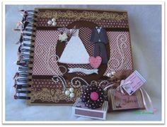 Kit Casamento  Álbum de Mensagens, lembrancinha e porta guardanapo