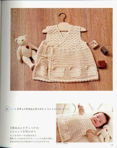 PATRONES GRATIS DE CROCHET: Patrón vestido cruzado para bebes a crochet