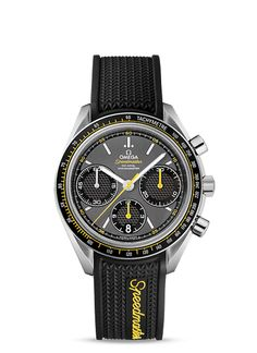 When the OMEGA Speedmaster was introduced in 1957, it was valued by motorsport and rally drivers for its chronograph performance and for its design aesthetics. In fact, its dial design was inspired by the dashboards of Italian cars of the time. Nearly a decade before it made a name for itself in space, the Speedmaster had already established itself as one of the world's favourite chronographs. Street Price of $3,478.00