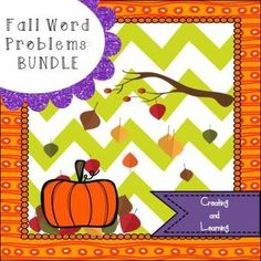"""From """"Creating and Learning"""" comes a bundle of my Fall Math Word ..."""