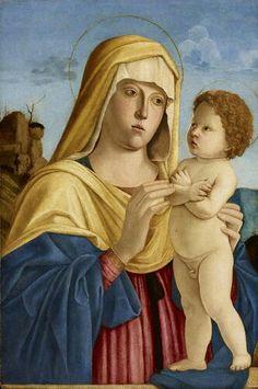 Bottega di. Madonna con Bambino.  1495-1500. Olio su tavola. Accademia Carrara di Bergamo