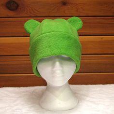 fleece bear hat.