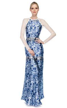 Yigal Azrouel Marble Print Charmeuse Dress - Ready-to-Wear Trunkshow at Moda Operandi | Moda Operandi
