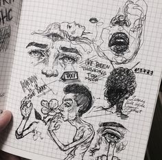 Arte Grunge, Grunge Art, Cool Art Drawings, Art Drawings Sketches, Indie Drawings, Art Journal Inspiration, Art Inspo, Arte Peculiar, Art Diary