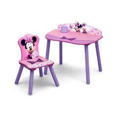 Pink Desk and Chair Set - Pink Desk and Chair Set - Best Desk Chair for Back Pain, Kids Activity Table toddler Wooden Table and Chairs Childrens Toddler Desk And Chair, Desk And Chair Set, Table And Chairs, Desk Chairs, Desk Lamp, Home Office, Minnie Mouse Toys, Easy Toddler Crafts, Pink Desk