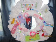 Cloth Diaper Wreath such a cute idea!