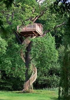 Tree house anyone? View tree houses of different shapes and sizes in this albu… Tree house anyone? View tree houses of different shapes and sizes in this album here: theownerbuilderne… Is building a tree house on your backyard project list? Outdoor Spaces, Outdoor Living, Outdoor Decor, Tree House Designs, Diy Tree House, Tree House Plans, Tree House Homes, Adult Tree House, Wooden Tree House