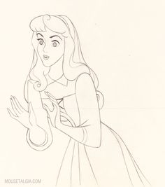 Such a beautiful Princess - Sleeping Beauty as Briar Rose - another character courtesy of Marc Davis