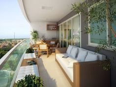 Relax time on the balcony Apartment Balcony Decorating, Apartment Balconies, Condo Decorating, Apartment Interior, Rooftop Design, Terrace Design, Balcony Furniture, Outdoor Furniture Sets, Outdoor Decor