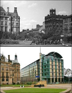 BBC - South Yorkshire - In Pictures - Photos of Sheffield - then and now Sheffield Pubs, Sheffield England, Then And Now Pictures, Old Pictures, Sheffield Wednesday, London History, South Yorkshire, Travel Tours, Derbyshire
