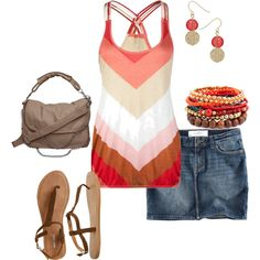cute summer outfit, i'd like the skit better as a pair of shorts though