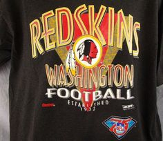 Washington Redskins Vintage XL T-Shirt Extra Large NFL 75th Trench 1994 Football #Trench #GraphicTee