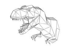 T-Rex Wall Hanging Free Papercraft Download