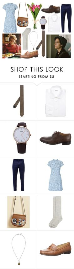 """cute date ;)"" by fossemuffins ❤ liked on Polyvore featuring Weber + Weber, Brioni, Tod's, Ted Baker, Miss Selfridge, Monsoon, First People First, INDIE HAIR, Jack Rogers and DateNight"