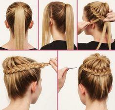 coiffure facile printemps chignon tressé #hairstyles