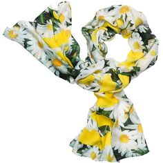 Kate Spade Oops A Daisy Oblong Scarf ($128) ❤ liked on Polyvore featuring accessories, scarves, kate spade scarves, long shawl, long scarves, oblong scarves and tie scarves