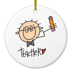 Hang Teacher ornaments from Zazzle on your tree this holiday season. Art Drawings For Kids, Drawing For Kids, Easy Drawings, Art For Kids, Teacher Ornaments, Wood Ornaments, Christmas Ornaments, Stick Figure Drawing, Mermaid Crafts