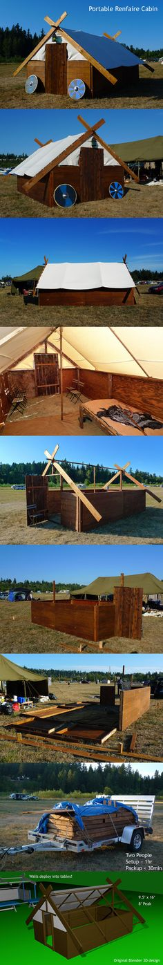 https://flic.kr/p/xpdKQj | The Mead Hall | Portable Renfaire Cabin One day when I have my own workshop, vehicle, and trailer...