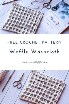 Waffle WashCloth - Free Crochet Pattern — Hooked On Tilly