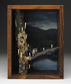 Working Birds Studio - limited-edition and one-of-a-kind shadow boxes Vigil Altered Tins, Altered Art, Shadow Box Kunst, Diy Shadow Box, Assemblage Art, Metal Walls, Diy Art, Wood Art, Framed Art