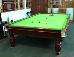 Full size snooker tables for sale.Antique snooker tables. | Browns Antiques Billiards and Interiors.