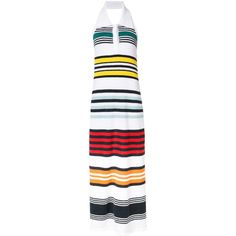 Rosie Assoulin rainbow striped dress (€1.505) ❤ liked on Polyvore featuring dresses, white, multi print dress, rosie assoulin dress, colorful dresses, white dresses and multicolored dress