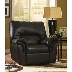 Signature Design by Ashley Faux Leather San Marco Recliner