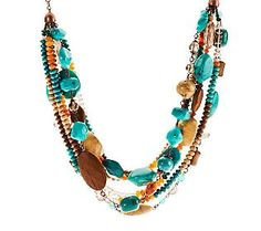 Joan Rivers Moroccan Dreams Torsade 18 Necklace w/ 3 Extender QVC $81.72