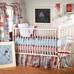 hese colors remind me of Raggedy Ann.  I might even have a few old Raggedy Ann dolls of mine to put in the room!