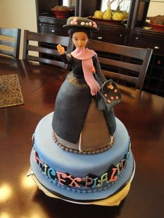 Mary Poppins cake... I like the bottom tier.