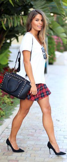 Seams For A Desire: Trend Alert: Tartan Skirt by Seams For a Desire