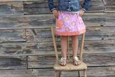 The Tangerine Lollies Twirl Skirt baby toddler and girls - handmade by alice & lois design studios