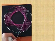 Embroidery On Paper String art String Art Templates, String Art Tutorials, String Art Patterns, String Wall Art, Nail String Art, String Crafts, Arte Linear, Mandala Art, Spirograph