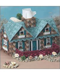 "I WANT this Plastic Canvas Stone Cottage Pattern! I found it at ""Everything Plastic Canvas"""