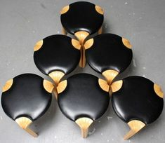 Alvar Aalto, six stools, 'X600', Artek | Lauritz.com