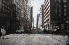 "Valerio D'Ospina, ""17th St,"" 32x48, oil on panel, 2016."
