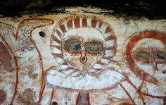 Wandjina rock painting